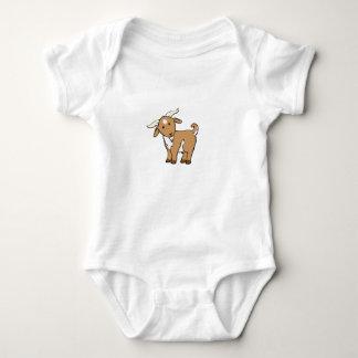 cute brown goat baby bodysuit