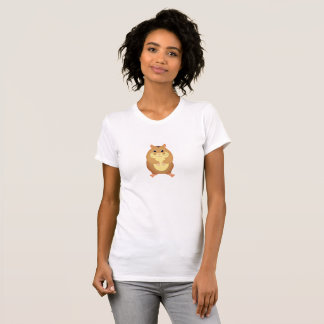 Cute Brown Hamster Adult T-shirt