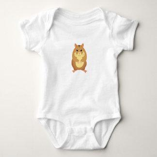 Cute Brown Hamster Infant Baby Bodysuit