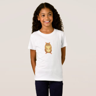 Cute Brown Hamster Kid's T-shirt