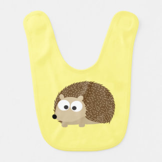 Cute Brown Hedgehog Bib