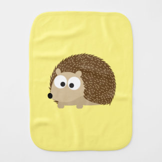 Cute Brown Hedgehog Burp Cloths