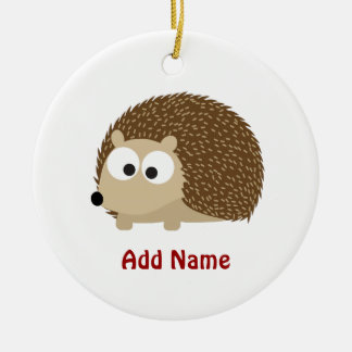 Cute Brown Hedgehog Christmas Ornament
