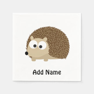 Cute Brown Hedgehog Disposable Napkin