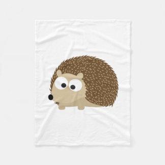 Cute Brown Hedgehog Fleece Blanket