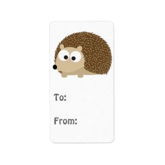 Cute Brown Hedgehog Address Label