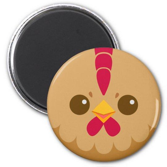 Cute Brown Hen / Chicken Magnet