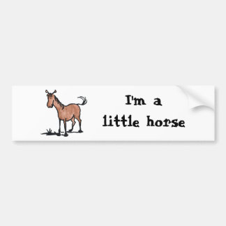 Cute Brown Horse Bumper Sticker