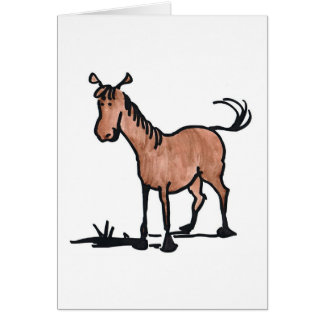 Cute Brown Horse Note Card
