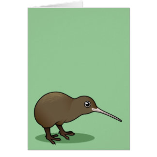 Cute Brown Kiwi from New Zealand Card