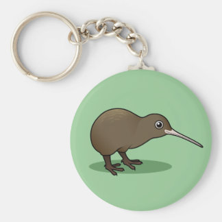 Cute Brown Kiwi from New Zealand Key Ring