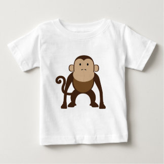 Cute Brown Monkey Baby T-Shirt