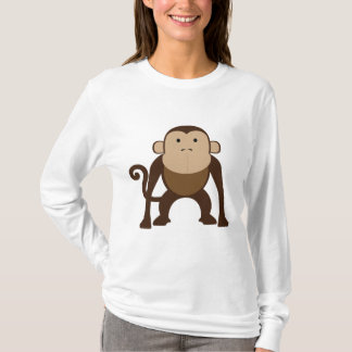 Cute Brown Monkey T-Shirt