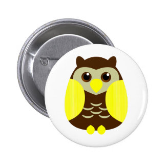 Cute Brown Owl Pins
