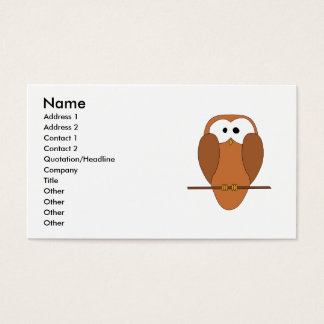 Cute Brown Owl Business Card