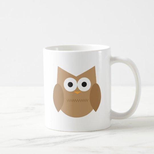 Cute Brown Owl Coffee Mug