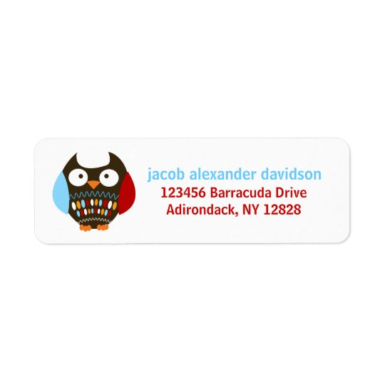 Cute Brown Owl Customised Address Labels