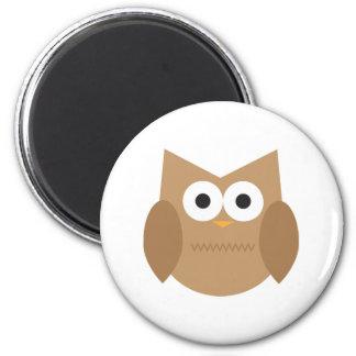 Cute Brown Owl Fridge Magnet