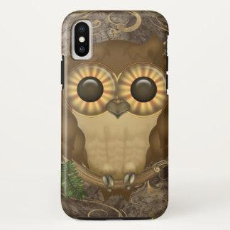 Cute Brown Owl iPhone X Case