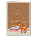cute brown poodle Christmas card
