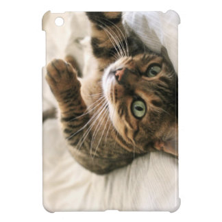 Cute Brown Spotted Bengal Cat Kitten Lying in Bed Case For The iPad Mini