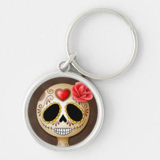 Cute Brown Sugar Skull Key Chains