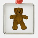 Cute brown teddy bear christmas ornament