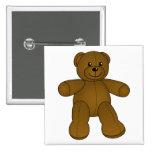 Cute brown teddy bear pin
