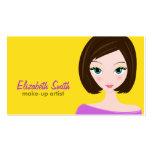 Cute Brunette Business Card