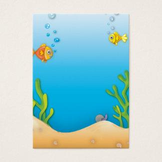 cute bubble fish underwater scene
