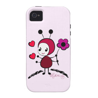Cute Bug With Big Daisy Case-Mate iPhone 4 Cases