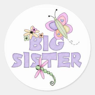 Cute Bugs Big Sister Classic Round Sticker