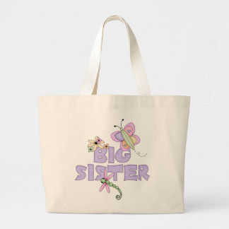 Cute Bugs Big Sister Large Tote Bag