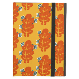 Cute Bugs Eat Autumn Leaf iPad Air Cover