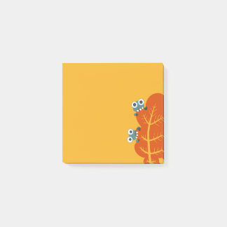 Cute Bugs Eat Autumn Leaf Post-it Notes