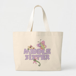 Cute Bugs Middle Sister Canvas Bag