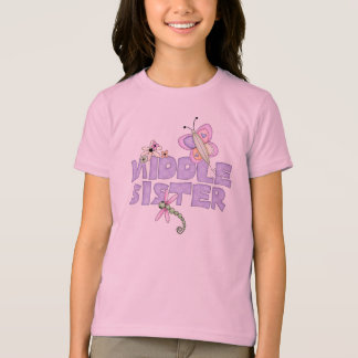 Cute Bugs Middle Sister T-shirts