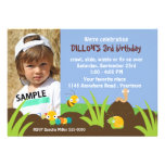 Cute Bugs Photo Birthday Personalized Invitations