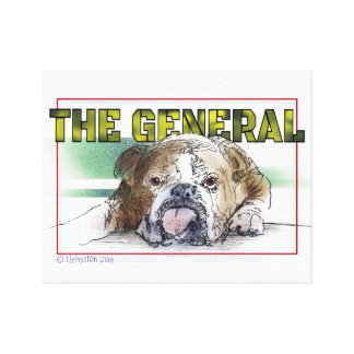 Cute Bull Dog irresistible Canvas Print