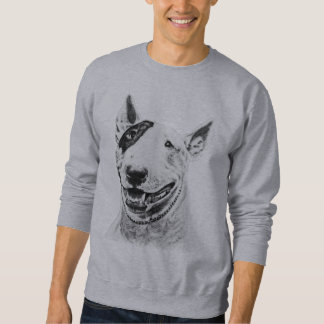 Cute Bull Terrier dog art Sweatshirt