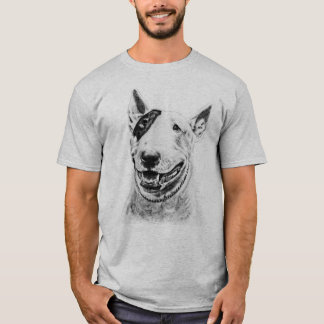 Cute Bull Terrier dog art T-Shirt