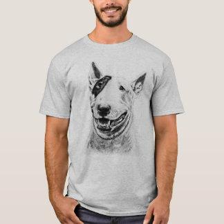 Cute Bull Terrier dog art T-Shirt