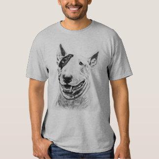 Cute Bull Terrier dog art Tee Shirt