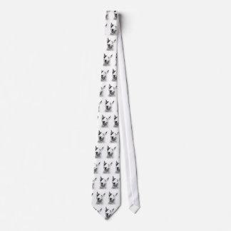 Cute Bull Terrier dog art Tie