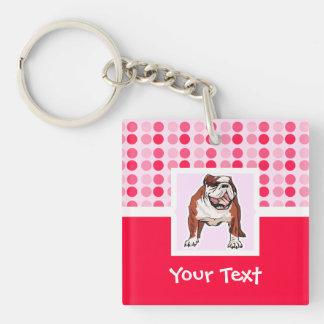 Cute Bulldog Acrylic Keychains