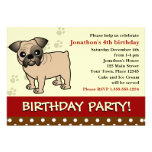 Cute Bulldog Puppy Birthday Party Invitation