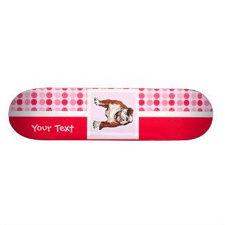Cute Bulldog Skate Board