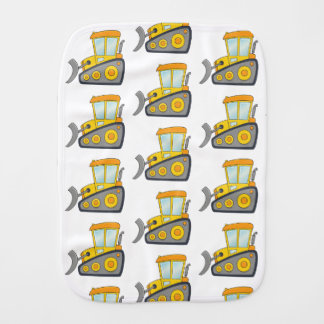 Cute Bulldozer Pattern Burp Cloth