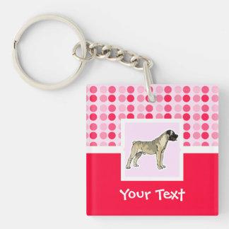Cute Bullmastiff Acrylic Key Chain