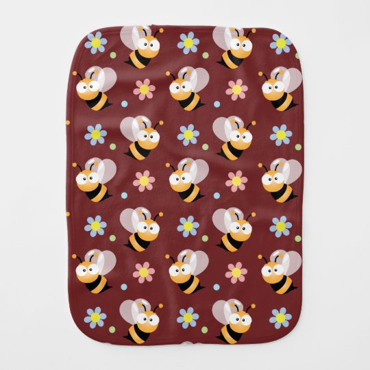 Cute Bumble Bee And Colourful Flower Pattern Baby
